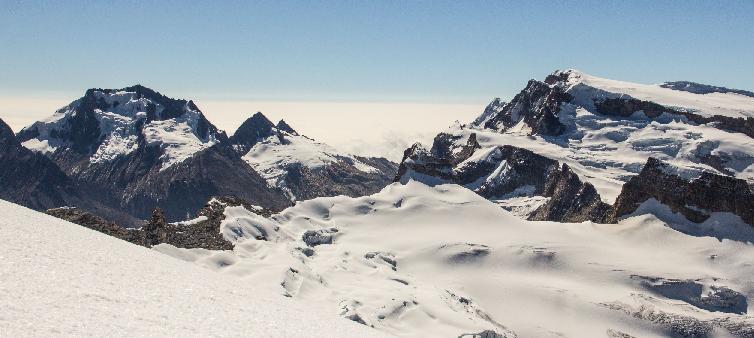 Glaciares tropicales en peligro de desaparición debido al cambio climático