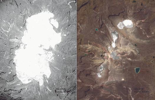 Preocupante estado de los glaciares Colombianos.